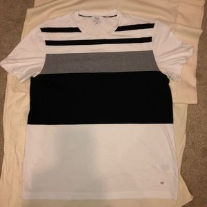 Calvin Kline Black and White Short Sleeve T-shirt